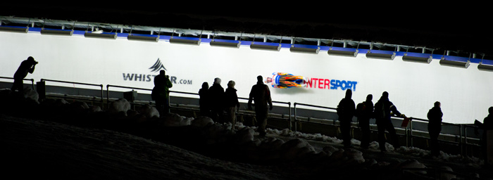 Luge on track at the Whistler Sliding Centre