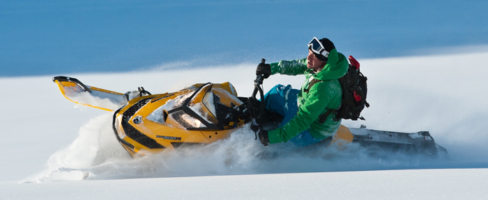Snowmobiling near Whistler