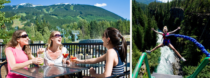 Patio time and Airtime in Whistler