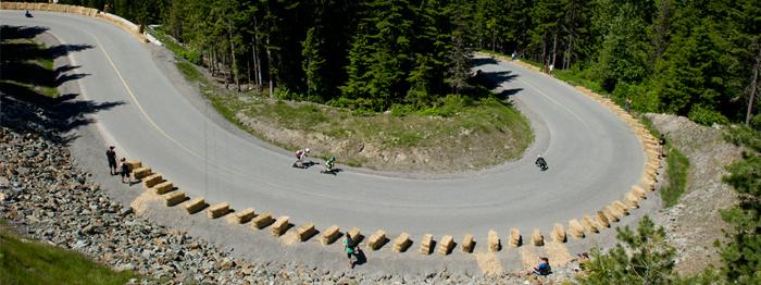 Whistler Longboard Fest course at Whistler Sliding Centre