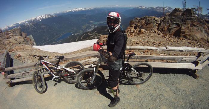 Whistler biking top of the world