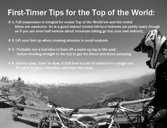 Tips for Top of the World