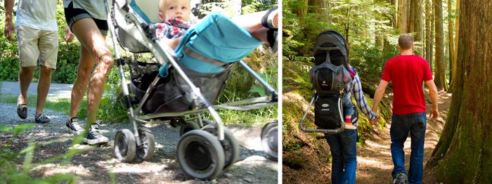 Whistler babies hiking