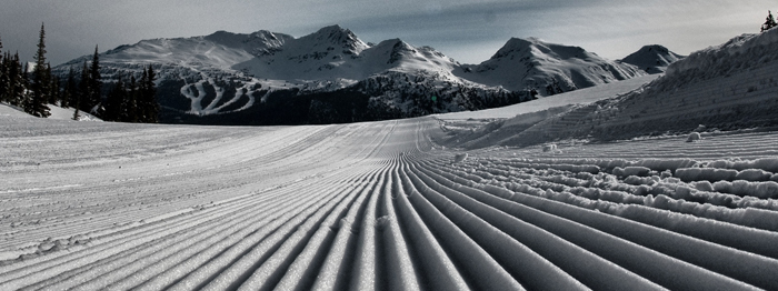 Fresh Groomers on Whistler Mountain