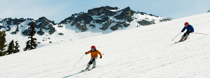 Cruiser ski runs on Whistler Mountain