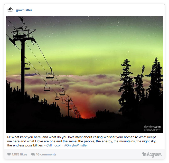 Northern Lights with Chairlift