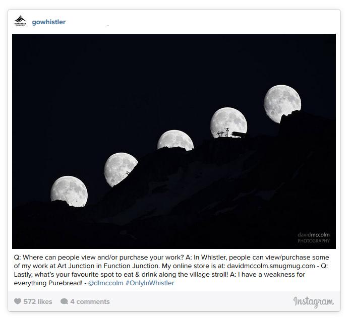Moon Rise on Whistler Mountain