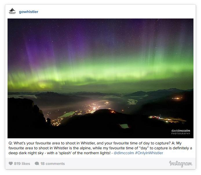 Northern Lights Over Whistler