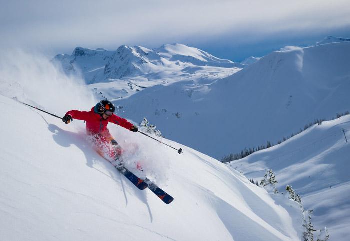 Powder Skiing Whistler