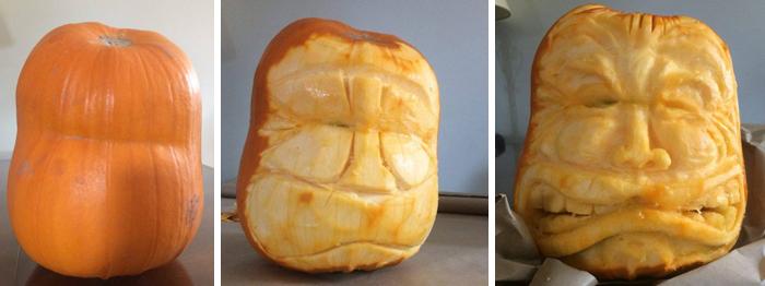 Pumpkin Carving Process