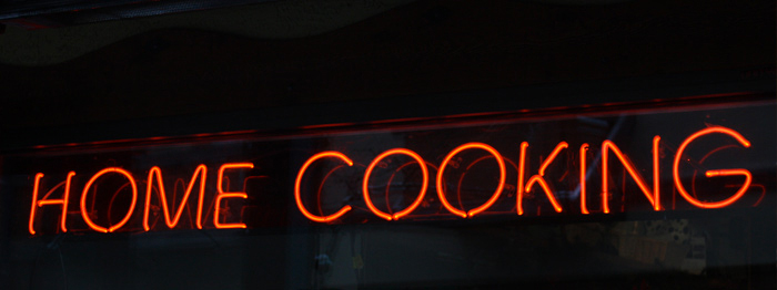 Home Cooking Sign
