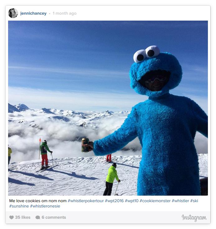 Elmo Onesie on Whistler Peak