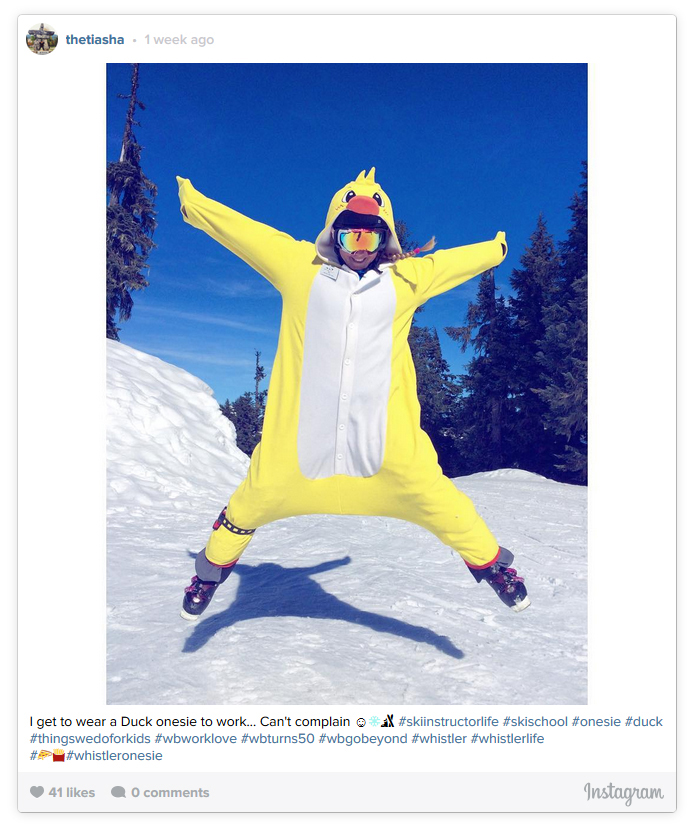 Jumping in a Duck Onesie