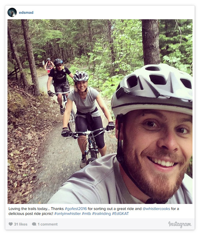 Biking at Lost Lake