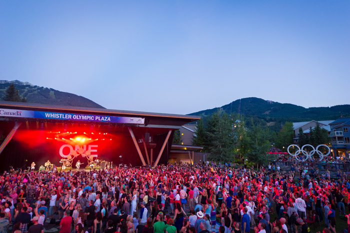 Summer Concert at Whistler Olympic Plaza