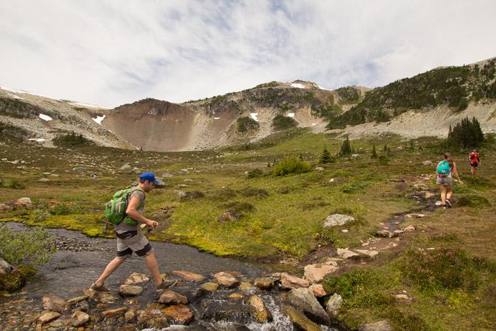 Crossing an Alpine Stream