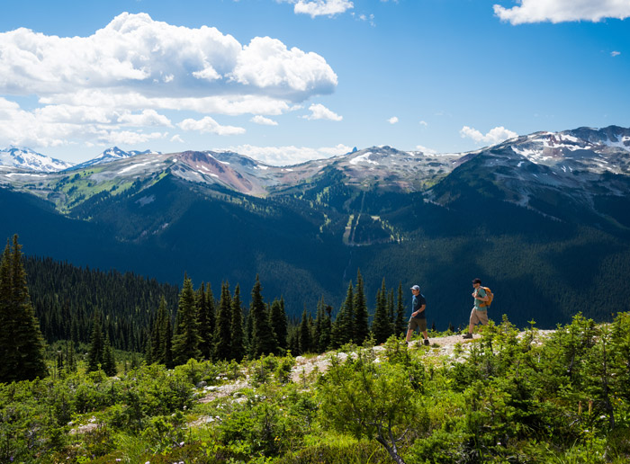Hiking on Blackcomb Mountain