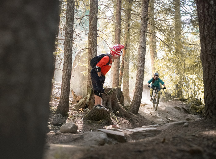 Women Learning to Ride Downhill in Whistler