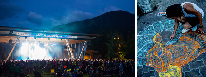 Live Music and Art at Whistler Olympic Plaza