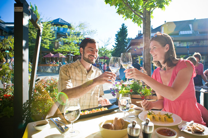 Patio Dining in Whistler