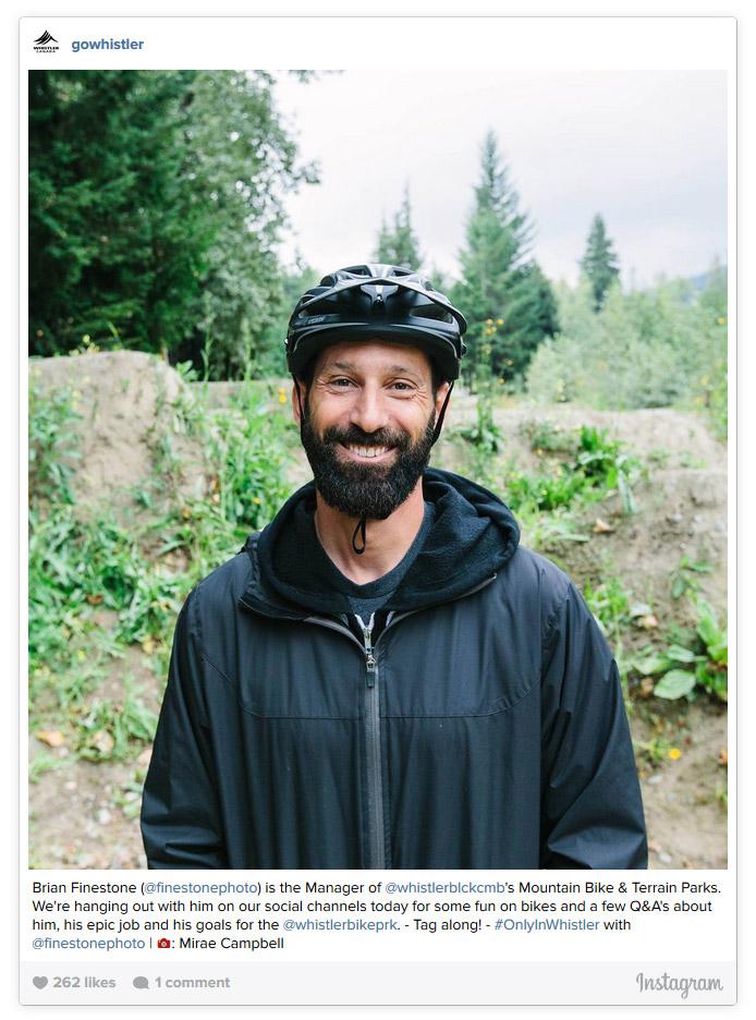 Brian Finestone, Bike Park Manager