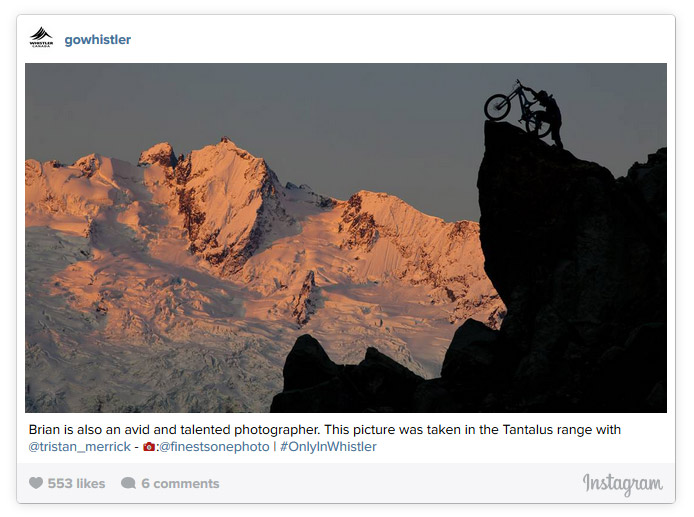 Mountain Biker Silhouette Against Tantalus