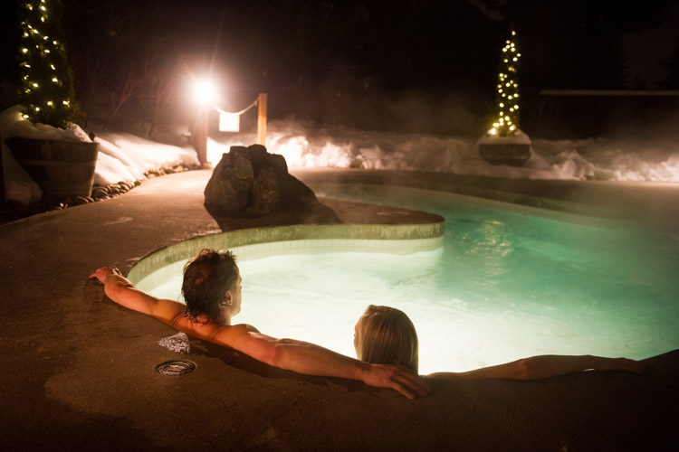 Indulding at the Scandinave Spa