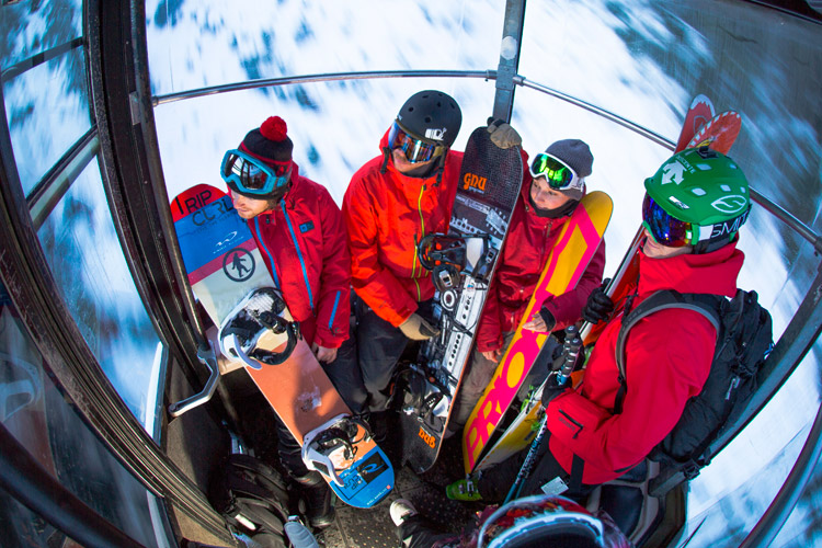 Good time in the Gondola. PHOTO ERIN HOGUE