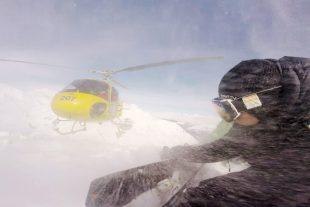 X Games Photographer Erin Hogue on a heli drop