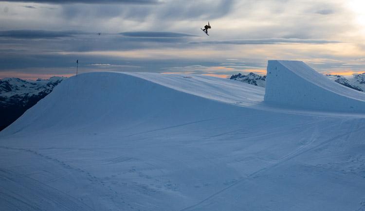Rider Anna Gasser, Whistler Blackcomb. PHOTO ERIN HOGUE