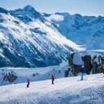Family Skiing a Green Run