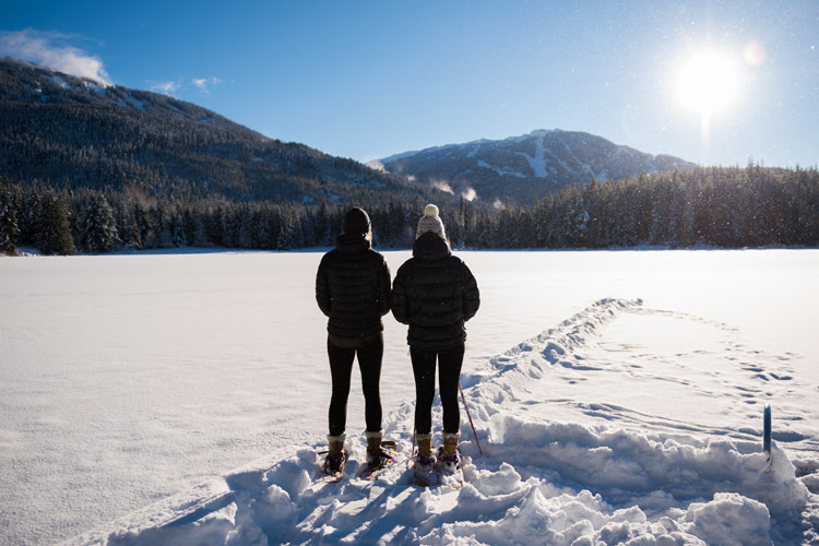 Snowshoeing at Lost Lake