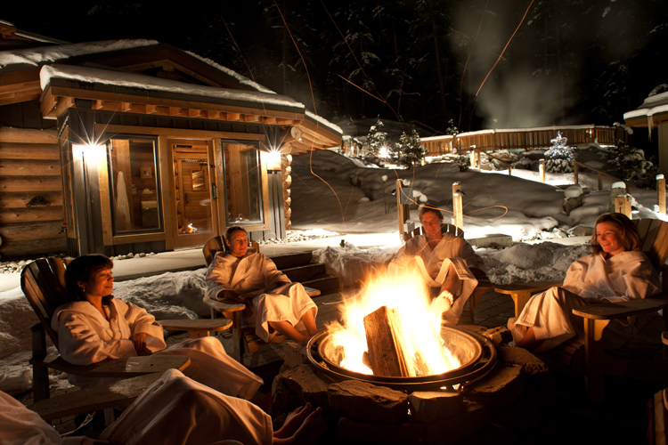 Fireside at Scandinave Spa