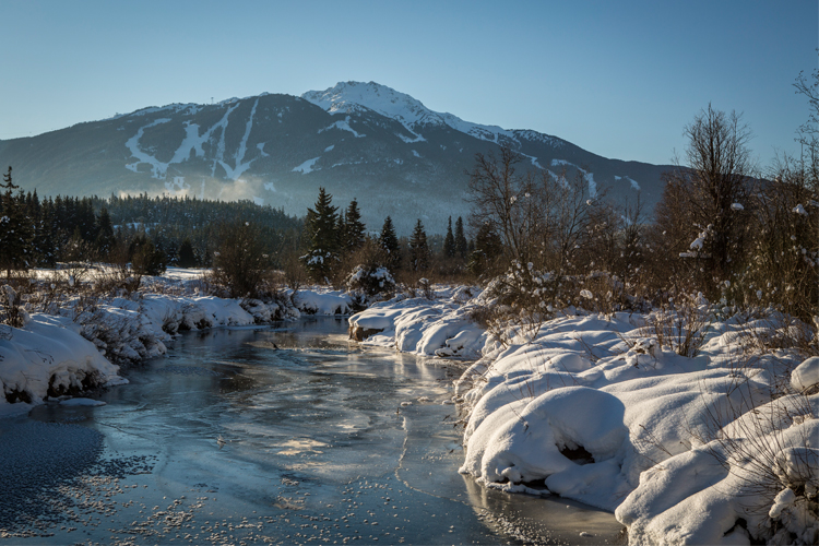 caab12fe5d Walking in Whistler s Winter Wonderland. Whistler Mountain seen from  Nicklaus North Golf Course