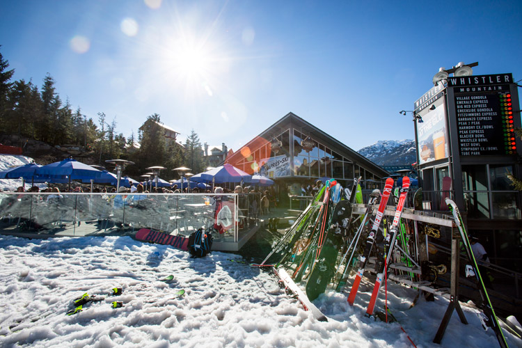 Spring Apres at Whistler village