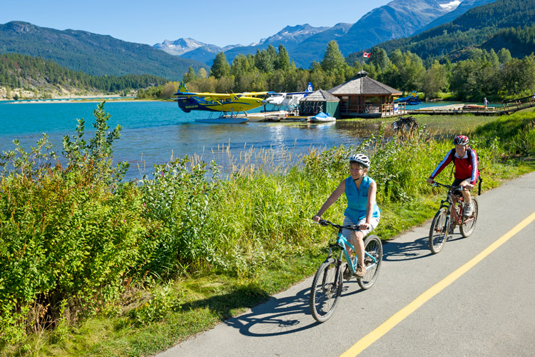 Biking on the Valley Trail in Whistler