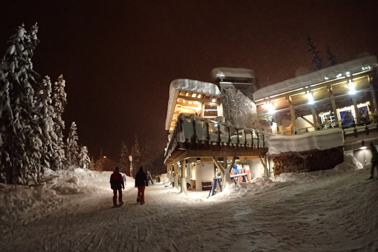 Whistler Olympic Park Lodge at Night