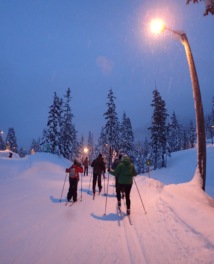 Evening Cross Country Skiing in Whistler