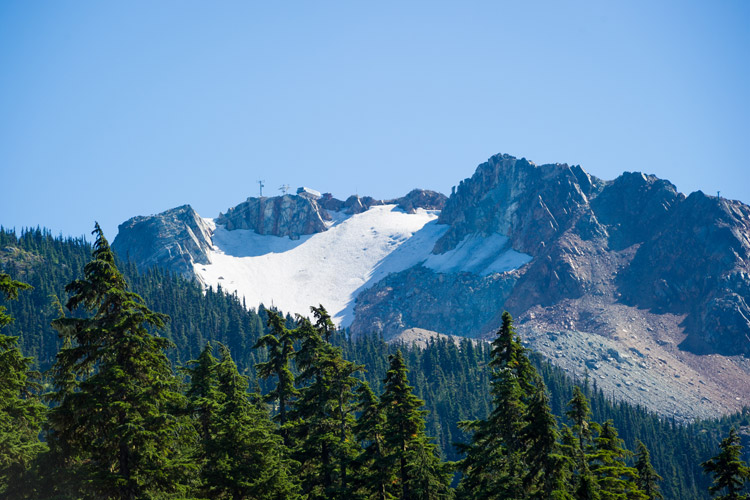 View of Whistler Peak from the valley