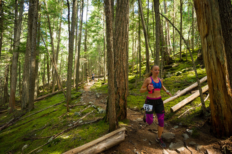 Comfortably Numb trail running race in Whistler