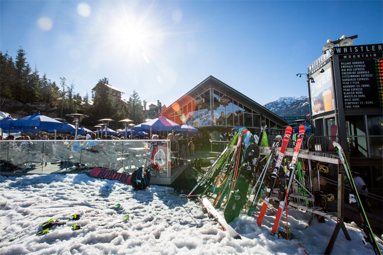 Spring Apres in Whistler Village
