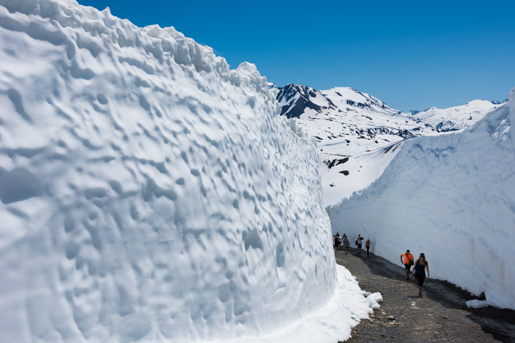 Massive snow walls on Whistler Mountain