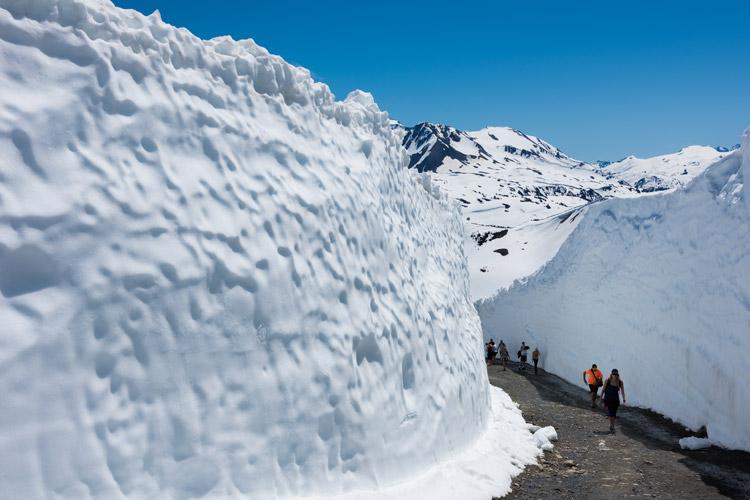 Massive snow walls on Whistler Mountain