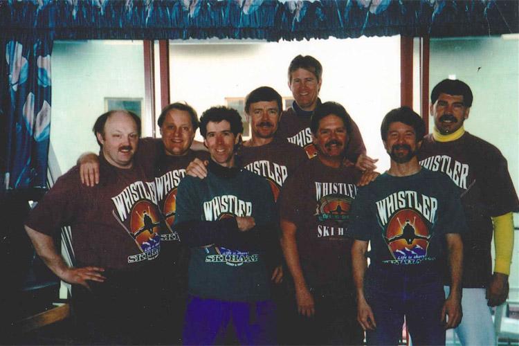 Group shot of the Black Velvet Ski Team