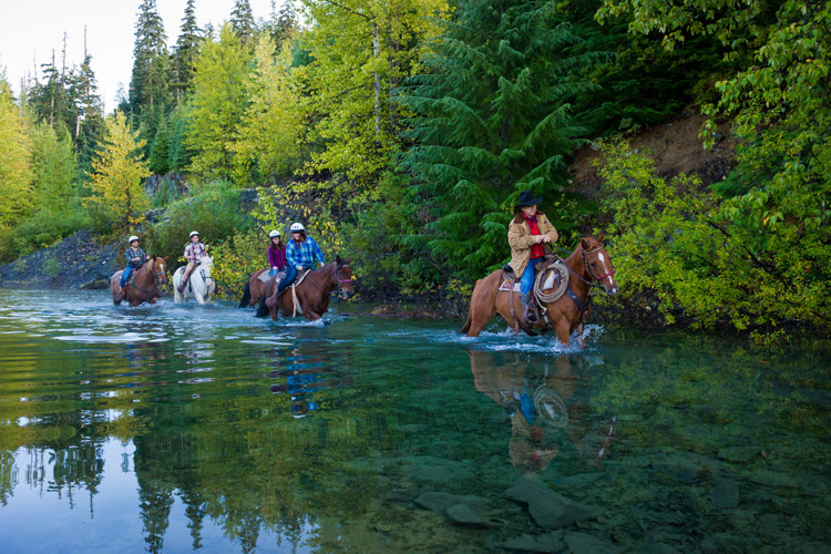 Horseback riding with Canadian Wilderness Adventures in the Callaghan Valley