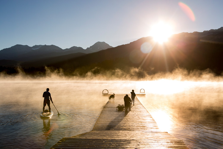 Sunrise Paddle on Alta Lake in Whistler