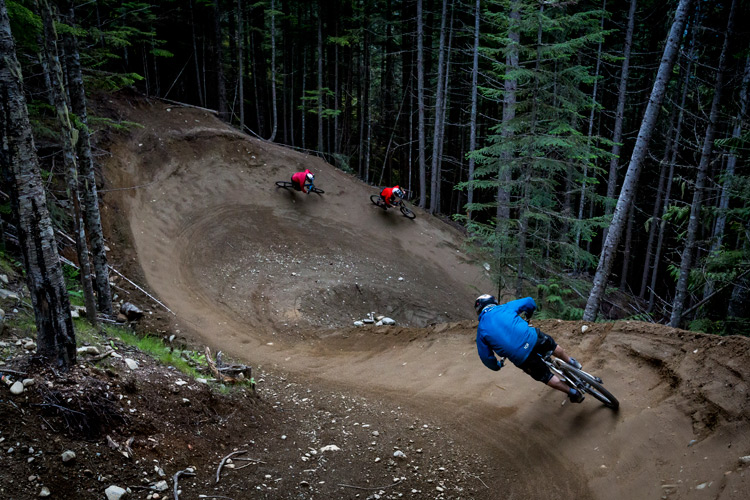 Early season in the Whistler Bike Park