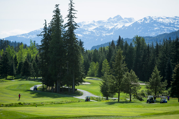Spring golfing at the Fairmont in Whistler