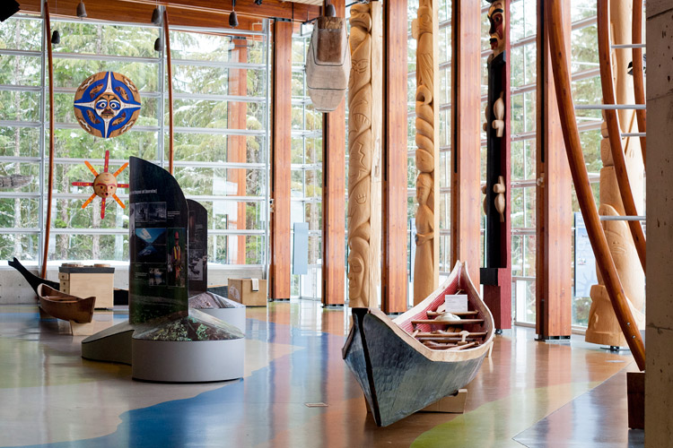 Inside the Squamish Lil'wat Cultural Centre in Whistler