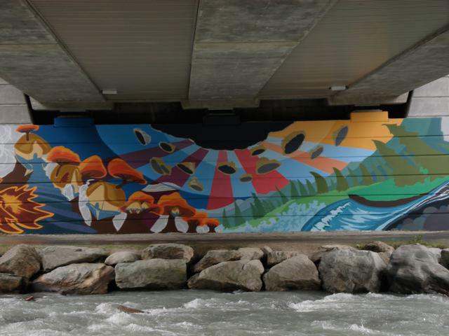 Lorimer Bridge Mural, Whistler by Chili Thom  PHOTO COURTESY CHILI THOM ESTATE